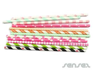 Printed Paper Straws (pack of 25)