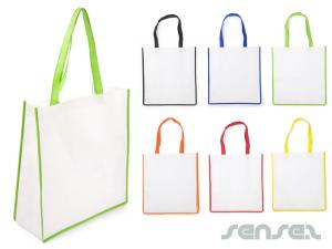 Nonwoven Bags with Colour Trim