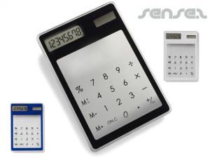 Transparente Touchscreen-Taschenrechner