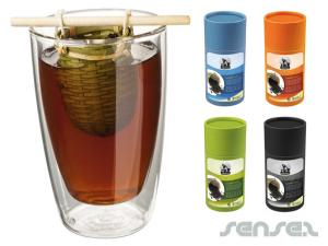 Tea Tubes with Bamboo Tea Sieve