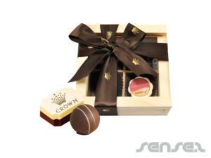 Praline Truffles in Timber Boxes (4 pcs)