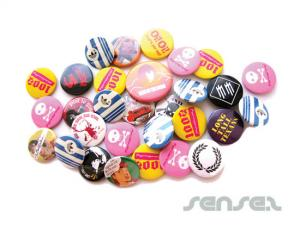 Zinn Button Badges (90mm)