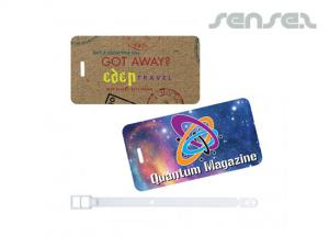 Full Colour Plastic Luggage Tags