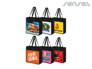 Full Colour Printed PET Tote Bags with Gusset