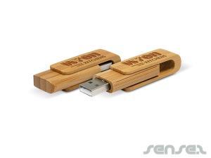 Swivel Bamboo USB (4GB)