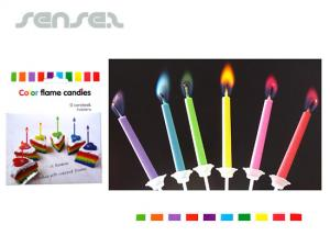 Corporate Colour Flame Cake Candles