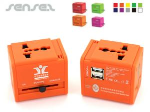 PMS Colour USB Travel Adapter