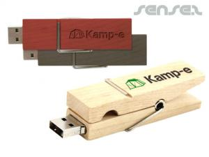 木製ペグUSBスティック(1GB)