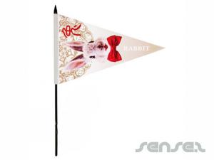 Triangular Fabric Flags (Small & Large)