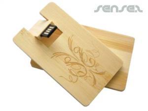 木製のUSBカード(1GB)