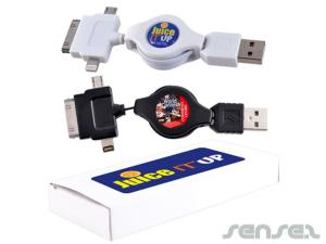 Eazy 3 in 1 Retractable USB Chargers