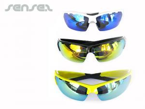 Mirror Lens Sporty Wraparound Sunglasses