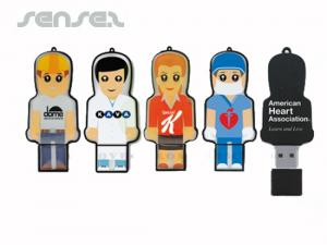 Custom Full Colour Epoxy USB People (1GB)