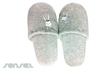 Plush Velour Hotel Slippers