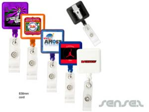 Square Retractable Badge Holders