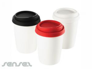 Ceramic Mug with silicone lids
