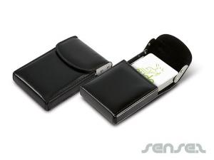 Leather Look Business Card Holders