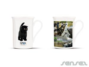 Vee Full Colour Bone China Coffee Mugs