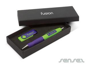 Mix USB & Kugelschreiber Geschenk-Sets