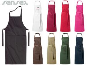 Colour Full Bib Aprons with Pockets
