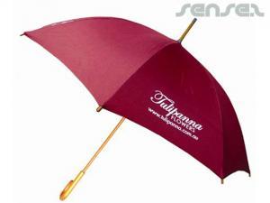 Large Wooden Handle Umbrellas