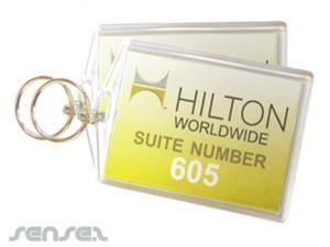 Custom Insert Hotel Keychains