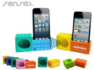 Building Block iPhone Holder & Speakers
