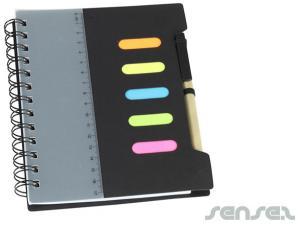 Sticky Notes, Pen &  Ruler Notebooks