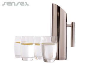 Edelstahl Krug & 6 Gläser-Sets