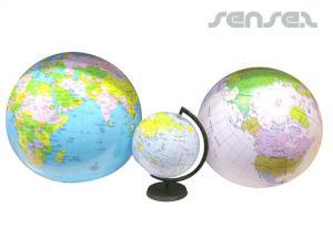 Aufblasbare Weltkugeln