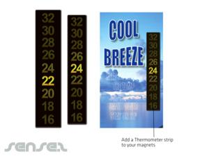 Magnete mit Thermometer Strips (70x15mm)