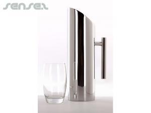Edelstahl Wasser-Krug und Gläser-Sets