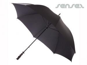 Edle schwarze Regenschirme