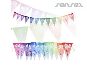 Triangular Flag Buntings (set of 12 Flags)