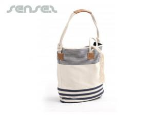 Striped Canvas Beach Bags
