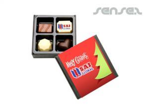 Schokoladen-Trüffel-Boxen (4 Stück)