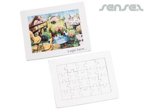 Draw Your Own Cardboard Jigsaw Puzzles