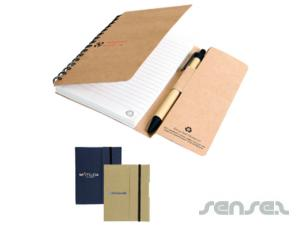 Recycled Tucker Notebook & Pen Sets (Small)