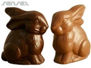 Sitting Lil Chocolate Bunnies 50MM