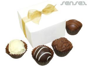 Trüffel Schokolade Geschenk-Box (4 Stück)