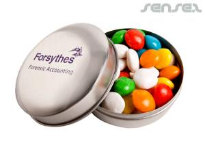 Corporate Coloured Chewy Fruit Tins (50g)