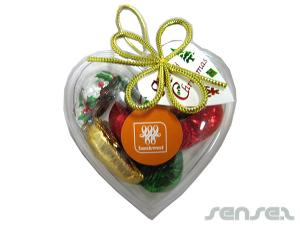 Heart Shaped Christmas Chocolates