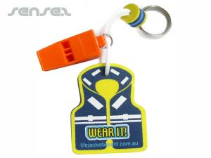 Surf Life Saving Keyrings With Whistle