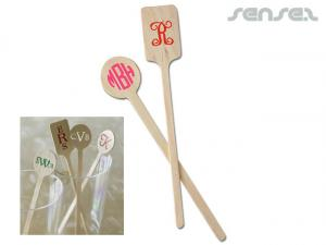 Retro Wooden Cocktail Stirrers