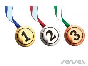 Schokoladen-Medaillen