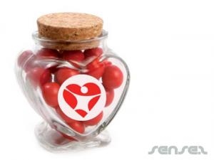 Heart Candy Jars