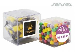Confectionery in Clear Cubes
