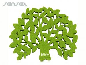 Tree Shaped Felt Coasters