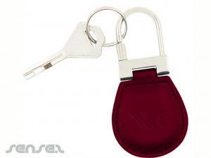 Leather Lock Keyrings