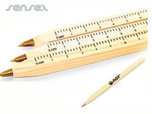 Wooden Ballpoint Pen Rulers